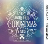 have a very merry holly jolly... | Shutterstock .eps vector #234494509