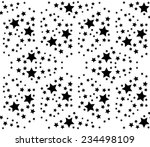 Pattern Background  Black Star...