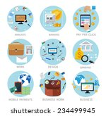icons set banners for business... | Shutterstock .eps vector #234499945