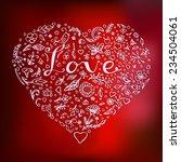 floral heart. beautiful vector... | Shutterstock .eps vector #234504061