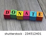 concept of donation word on... | Shutterstock . vector #234512401