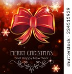 red christmas bow on abstract... | Shutterstock .eps vector #234515929