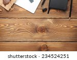 office table with notepad ... | Shutterstock . vector #234524251