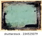 highly detailed grunge frame ... | Shutterstock . vector #234525079