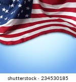 american flag on blue background | Shutterstock . vector #234530185
