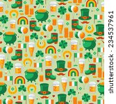 patrick's day seamless pattern... | Shutterstock .eps vector #234537961