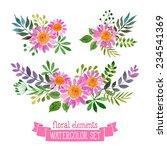 vector flowers set. colorful... | Shutterstock .eps vector #234541369