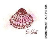 vector illustration of sea... | Shutterstock .eps vector #234541585