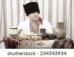 ukrainian cossack in national... | Shutterstock . vector #234543934