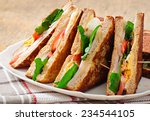 club sandwich with chicken and... | Shutterstock . vector #234544105