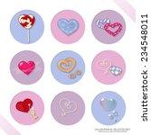 valentine's hearts set. hearts... | Shutterstock .eps vector #234548011