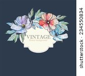set of invitations with... | Shutterstock .eps vector #234550834
