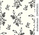 ink painted seamless pattern... | Shutterstock . vector #234552631