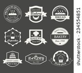 retro bakery logos  badges and... | Shutterstock .eps vector #234554851