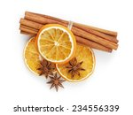 Dried Oranges With Cinnamon An...