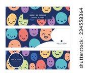 vector funny faces horizontal... | Shutterstock .eps vector #234558364