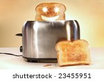Toaster With Two Slices Of...