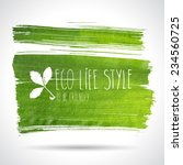 green hand drawn banner   eco... | Shutterstock .eps vector #234560725