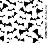 seamless pattern with black bats | Shutterstock . vector #234561451