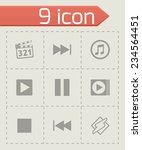 vector media player icons set... | Shutterstock .eps vector #234564451