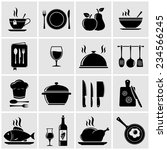 cooking and kitchen icons | Shutterstock . vector #234566245