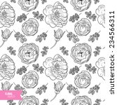 briar rose sketch seamless... | Shutterstock .eps vector #234566311