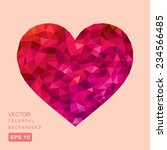 vector geometric heart | Shutterstock .eps vector #234566485