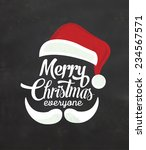 christmas typographic... | Shutterstock .eps vector #234567571