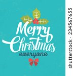 christmas typographic... | Shutterstock .eps vector #234567655