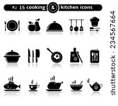 cooking and kitchen icons | Shutterstock . vector #234567664