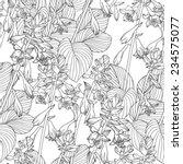 seamless flower black white...   Shutterstock .eps vector #234575077