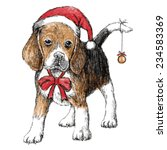 hand drawn vector of beagle... | Shutterstock .eps vector #234583369