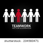 teamwork design over black... | Shutterstock .eps vector #234583471