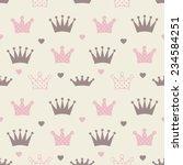little princess seamless... | Shutterstock .eps vector #234584251