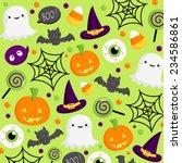 halloween background | Shutterstock .eps vector #234586861