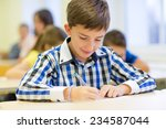 education  elementary school ... | Shutterstock . vector #234587044