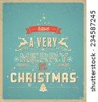 Typography  Christmas Greeting...