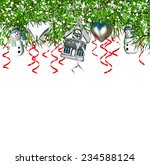 christmas tree and toys | Shutterstock . vector #234588124