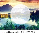 mountain lake in national park... | Shutterstock . vector #234596719