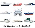 boats isolated on white... | Shutterstock . vector #234602821