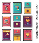 valentines day poster flat... | Shutterstock .eps vector #234603727