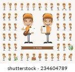 set of postman character  ...   Shutterstock .eps vector #234604789