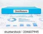 blue document binder with... | Shutterstock . vector #234607945