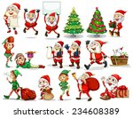 stickers of christmas theme | Shutterstock .eps vector #234608389