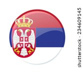 button flag of serbia | Shutterstock .eps vector #234609145