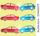 red and blue car crash icons | Shutterstock .eps vector #234630379