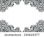 vintage baroque border frame... | Shutterstock . vector #234635377