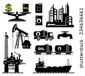 set vector icons of petroleum... | Shutterstock .eps vector #234636661