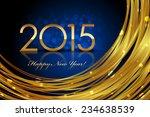 Vector 2015 Blue Glowing...