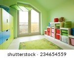 Cozy Child's Room With Green...